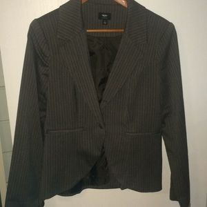 Brown herringbone and pinstriped blazer by mossimo